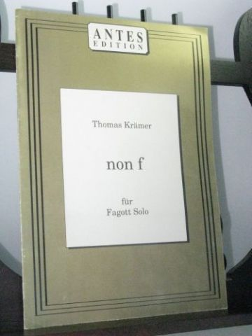Kramer T - Non F for Solo Bassoon